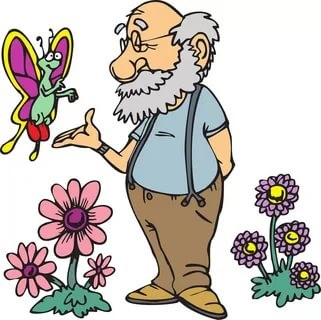 TPOTG Old Man Talking to Birds